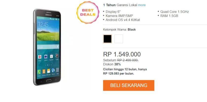 Source Promo Lazada Samsung Galaxy Mega 2 Rp1549000 Kupon