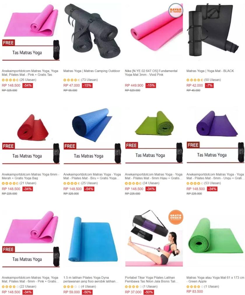 Matras Yoga Camping Outdoor Daftar Harga Terkini Terlengkap Mat Bonus Tas Sarung Source Promo Lazada Diskon Hingga 50 Kupon